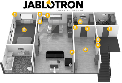 larm villa, larm företag, övervakningssystem, jablotron 100,